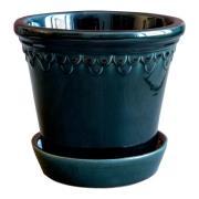 Bergs Potter - Köpenhavner Kruka/fat 14 cm Blå petroleum