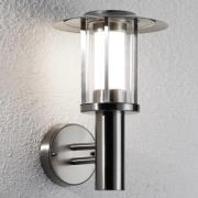 LED-utomhusvägglampa Gregory rostfritt stål